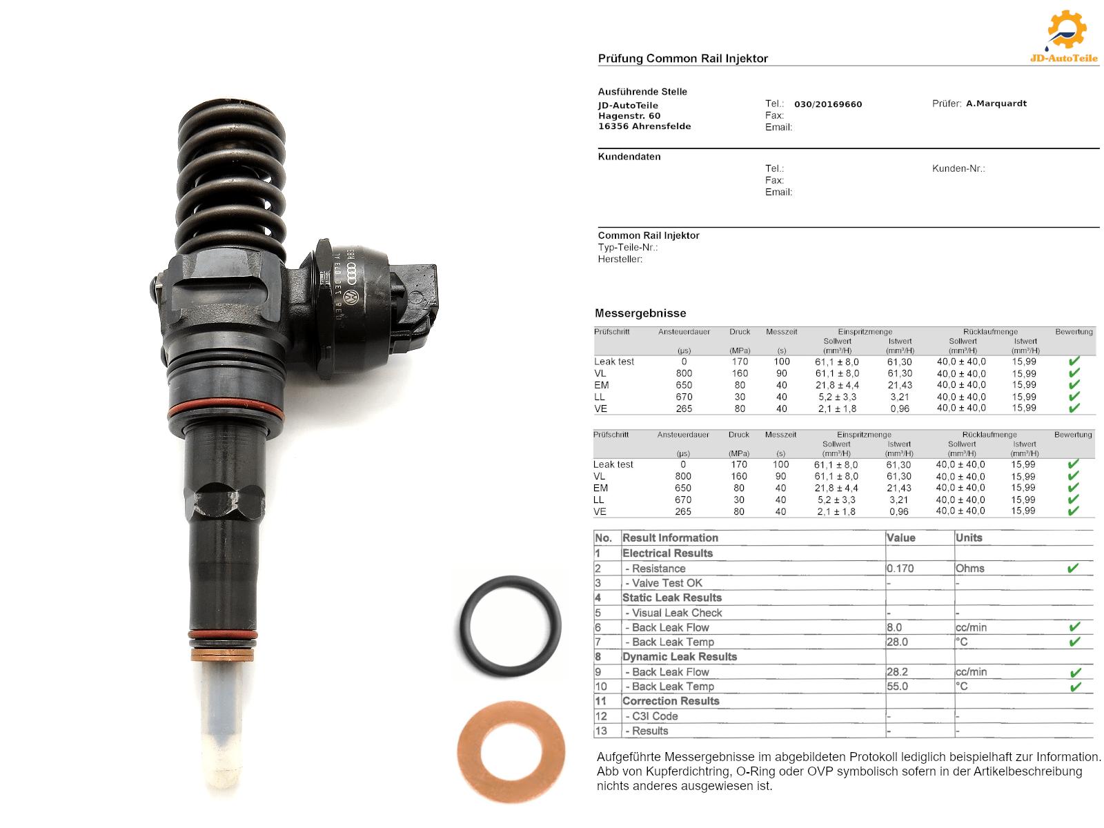 Pumpe düse element